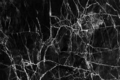 Czarny marmur deseniujący tekstury tło Marmury Tajlandia, abstrakcjonistyczny naturalny marmurowy czarny i biały dla projekta (sz zdjęcia stock