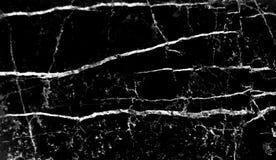 Czarny marmurowy tło z natury białej linii żyłą deseniuje abstrakcjonistycznego tekstury tło zdjęcie stock