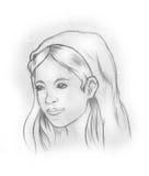 czarny Mary religii dziewiczy biel ilustracja wektor
