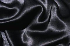 czarny materiał jedwab. Obraz Royalty Free