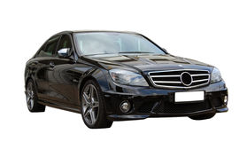 czarny Mercedes amg samochodowy Obraz Royalty Free