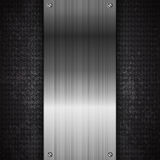 Czarny metal technologii abstrakta tło Obrazy Stock
