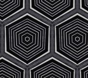 Czarny metalu abstrakta wzór Zdjęcie Stock