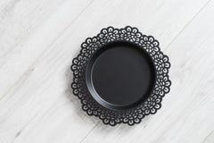 Czarny metalu naczynie Zdjęcia Royalty Free