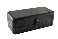 Czarny metalu pudełko Zdjęcie Stock