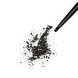 Czarny migotliwy eyeshadow Zdjęcie Stock
