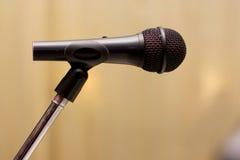 czarny mikrofon Obraz Stock
