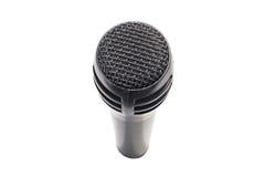 czarny mikrofonu Fotografia Royalty Free