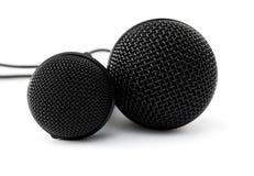 czarny mikrofony dwa Zdjęcia Royalty Free