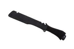 Czarny militarny nóż, odizolowywający Zdjęcia Royalty Free