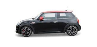 Czarny mini bednarza samochód Zdjęcia Stock