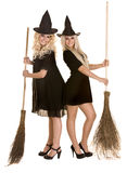 czarny miotły Halloween kapeluszu czarownica Fotografia Stock