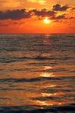 czarny morza czerwonego wschód słońca Obrazy Royalty Free