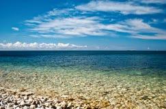 czarny morze Zdjęcie Royalty Free