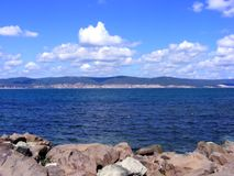 czarny morze Fotografia Royalty Free