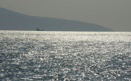 Czarny morze blisko Novorossiysk najazdu obrazy stock