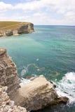 Czarny morze, Crimea, Tarhankut Obraz Stock