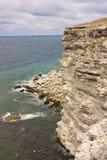 Czarny morze, Crimea, Tarhankut Zdjęcia Royalty Free