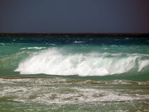 Czarny morze macha wieczór Obrazy Stock