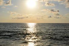 Czarny morze Przy zmierzchem fotografia stock
