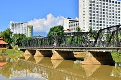 Czarny most. obraz royalty free