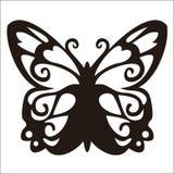 czarny motyli ilustracyjny odosobniony przedmiotów tatuażu wektoru biel ilustracja wektor