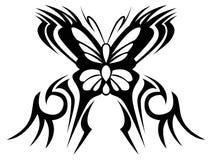 czarny motyli ilustracyjny odosobniony przedmiotów tatuażu wektoru biel Obrazy Stock