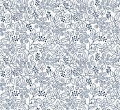czarny motyli kwiecisty kwiatów wzoru biel Obraz Stock