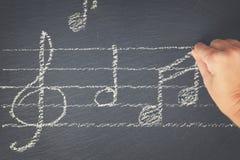 czarny muzyczne notatki Zdjęcie Royalty Free