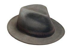 Czarny wełna kapelusz nad bielem Obraz Royalty Free