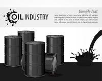 Czarny nafciany przemysłowy plakat ilustracja wektor