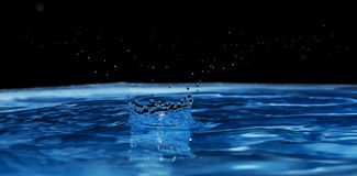 czarny niebieski Fotografia Stock