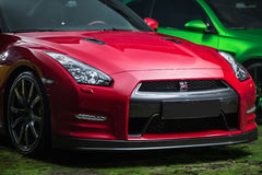 Czarny Nissan GT-R nastrajanie Obrazy Royalty Free
