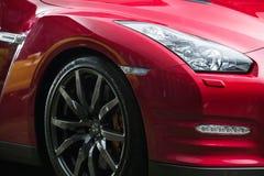 Czarny Nissan GT-R nastrajanie Obraz Stock
