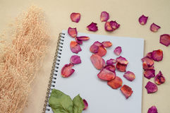Czarny Notepad Realistyczny szablonu notatnik Pustej pokrywy projekt Obrazy Stock
