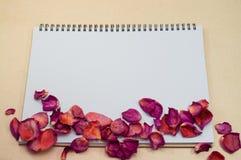 Czarny Notepad Realistyczny szablonu notatnik Pustej pokrywy projekt Fotografia Royalty Free