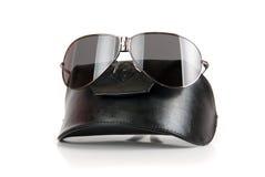 czarny nowożytni okulary przeciwsłoneczne obrazy stock