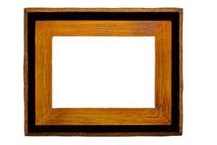 czarny obraz ramowy wieśniaka drewna Zdjęcie Royalty Free