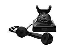 czarny obrotowy telefon Zdjęcie Royalty Free