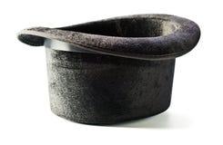 Czarny odgórny kapelusz odizolowywający na bielu Obraz Royalty Free
