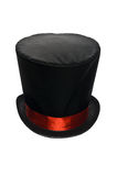 Czarny Odgórny kapelusz z Czerwonym faborkiem zdjęcie royalty free