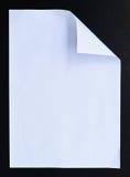 czarny odosobnienia papieru biel Zdjęcia Royalty Free