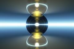 czarny ogniska marmur światła ilustracja wektor