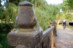 Czarny ogrodzenie rzeką Obrazy Stock