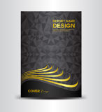 Czarny Okładkowy designn szablon Obraz Royalty Free