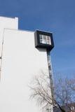 Czarny okno przy ścianą Obraz Stock