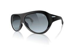 czarny okulary przeciwsłoneczne royalty ilustracja