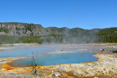 czarny opalu panoramy basen Yellowstone Fotografia Royalty Free