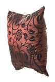 czarny ornamentów poduszki czerwony jedwabniczy wino Obraz Royalty Free