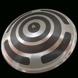 czarny osłony srebra Zdjęcie Stock